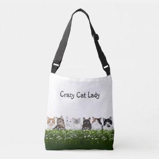 Crazy cat lady cat family tote bag
