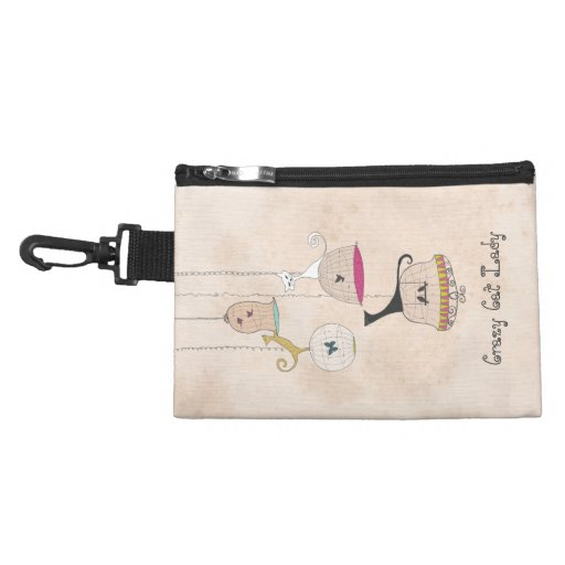 Crazy Cat Lady Cats n Birdcages accessory bags