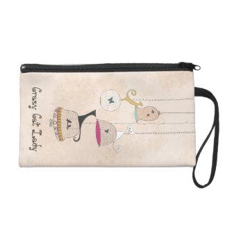 Crazy Cat Lady Cats n Birdcages wristlet purse