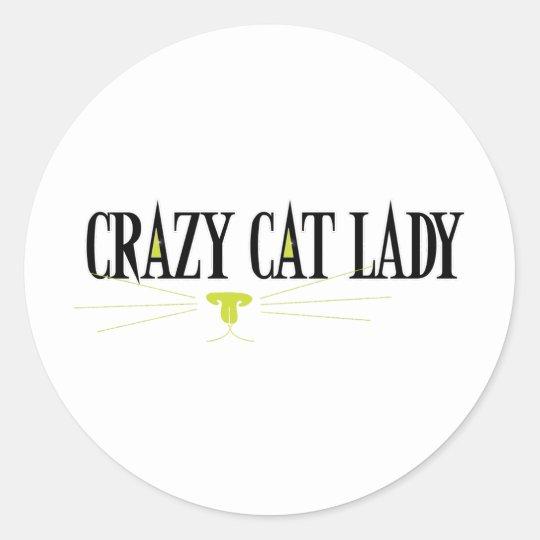 Crazy Cat Lady Classic Round Sticker