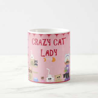 Crazy Cat Lady Coffee Cup Pink