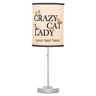 Crazy Cat Lady Custom Ivory Desk Lamp