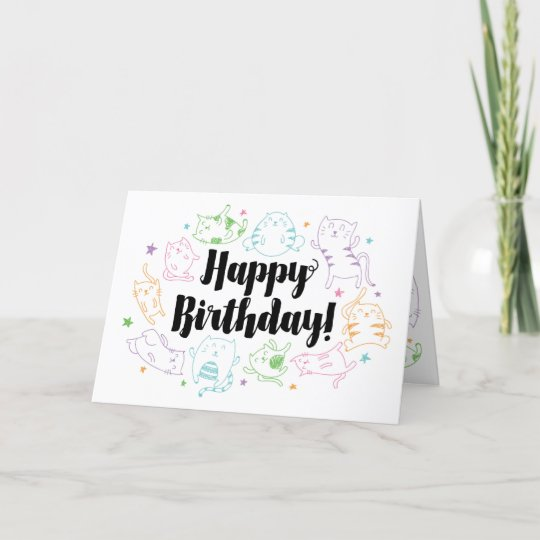 Crazy Cat Lady Custom Personalized Birthday Card