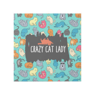 Crazy Cat Lady Cute and Playful Cat Pattern Gallery Wrap