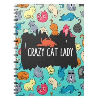 Crazy Cat Lady Cute and Playful Cat Pattern Notebook