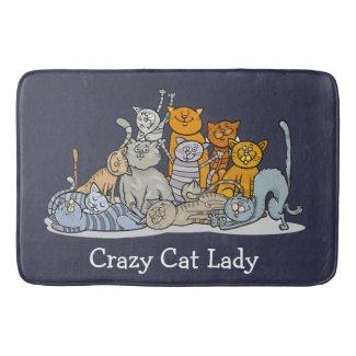 Crazy Cat Lady Design Bath Mat