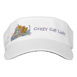 Crazy Cat Lady Design Sun Visor Hat