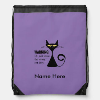 Crazy Cat Lady Drawstring Backpack