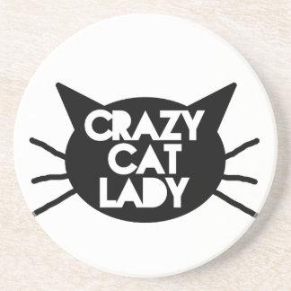 Crazy Cat Lady Drink Coaster