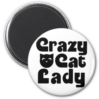 Crazy Cat Lady Fridge Magnets