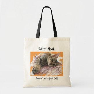 Crazy Cat Lady fun kittens tote bags