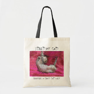 Crazy Cat Lady fun pink tote bags