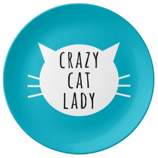 Crazy Cat Lady Funny Plate
