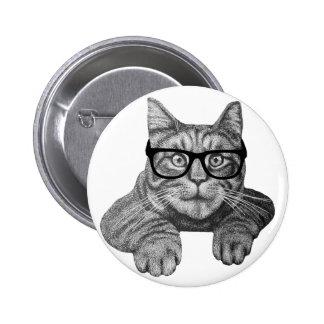 crazy cat lady geek cat badges