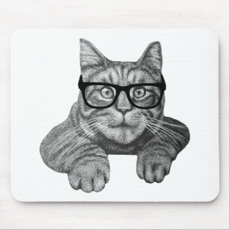 crazy cat lady geek cat mouse pad