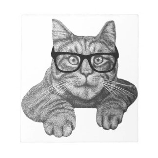 crazy cat lady geek cat memo notepads