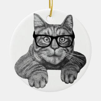 crazy cat lady geek cat christmas ornaments