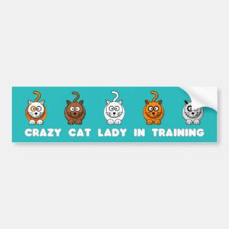 Crazy Cat Lady In Training Bumper Sticker Car Bumper Sticker