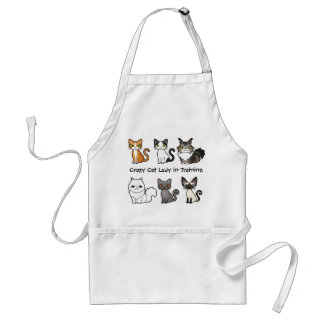 Crazy Cat Lady in Training (design your own cat) Adult Apron