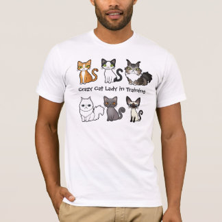Crazy Cat Lady in Training (design your own cat) T-Shirt