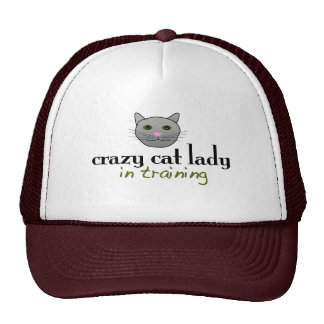 Crazy cat lady in training mesh hats