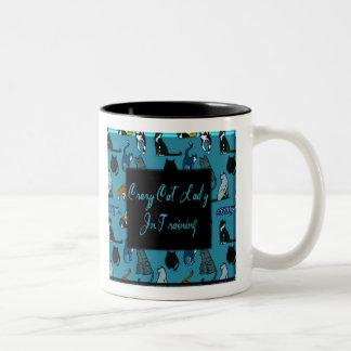 Crazy Cat Lady In Training Humor Coffee Mug