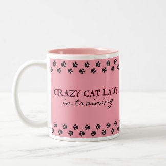 Crazy Cat Lady In Training Two-Tone Coffee Mug