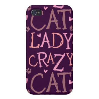 Crazy Cat Lady Covers For iPhone 4