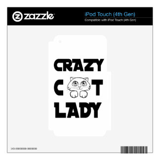 crazy cat lady iPod touch 4G decals