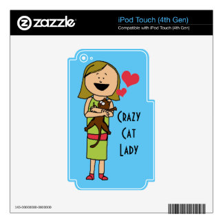 Crazy Cat Lady iPod Touch (4th Gen) Skin Decals For iPod Touch 4G