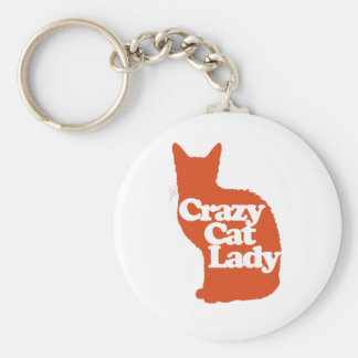 Crazy cat lady keychain