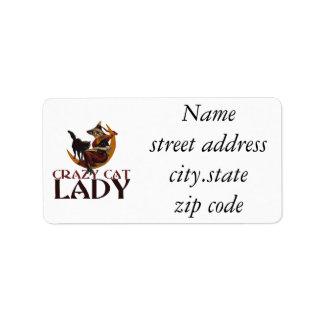 Crazy Cat Lady Personalized Address Label