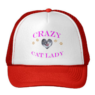 Crazy Cat Lady Magenta Trucker Hat