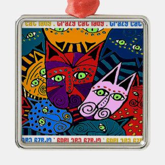 Crazy Cat Lady Metal Ornament
