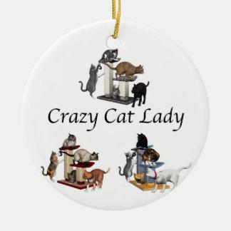 Crazy Cat Lady Christmas Tree Ornament
