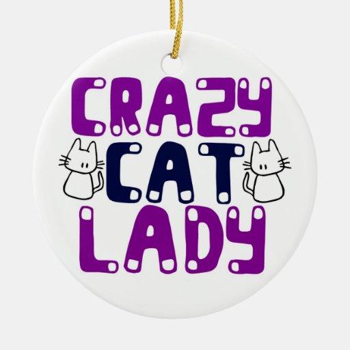 Crazy Cat Lady Ornaments