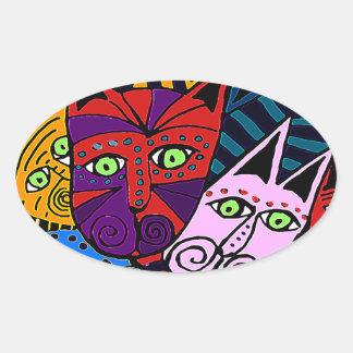 Crazy Cat Lady Oval Sticker