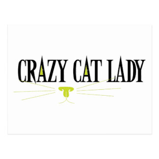 Crazy Cat Lady Post Cards