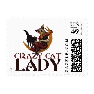 Crazy Cat Lady Postage