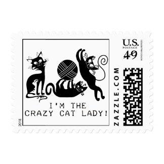 Crazy Cat Lady Stamp