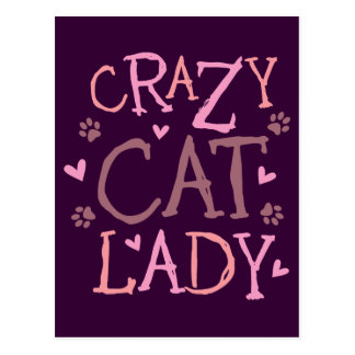 Crazy Cat Lady Postcard