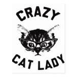 Crazy Cat Lady Postcards