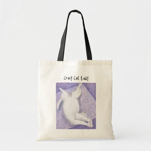Crazy Cat Lady purple lilac tote bags