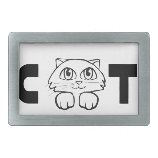crazy cat lady rectangular belt buckle