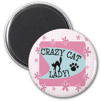Crazy Cat Lady - Retro 2 Inch Round Magnet