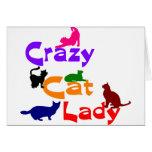 CRAZY CAT LADY STATIONERY NOTE CARD