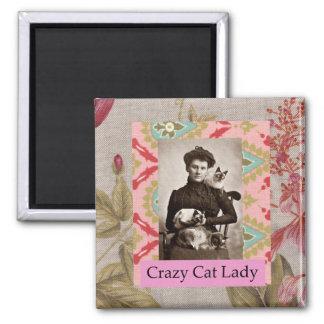 Crazy Cat Lady Vintage Cat Humor Funny Magnet