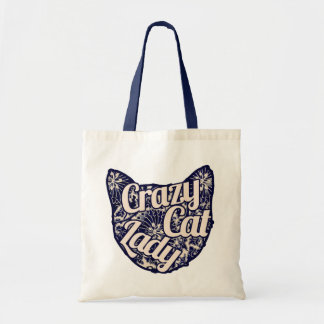 Crazy Cat Lady Vintage Kitty Canvas Bag