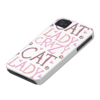 Crazy Cat Lady (white) iPhone 4 Case-Mate Case