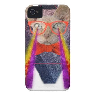 Crazy Cat Laser Beam Fantasy iPhone 4 Cover